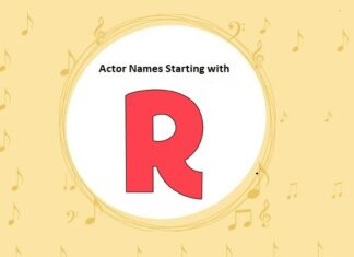 Bollywood Actors Names Starting with R