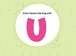 Bollywood Actors Names Starting with U