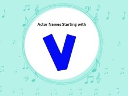 Bollywood Actors Names Starting with V