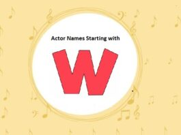 Bollywood Actors Names Starting with W