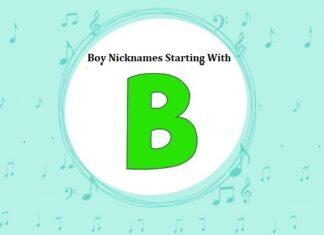 Baby Boy Nicknames Starting with B