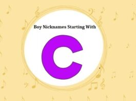 Baby Boy Nicknames Starting with C