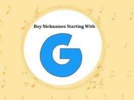 Baby Boy Nicknames Starting with G