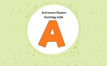 List of Bollywood Actresses Names Starting with A