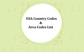 USA Country Codes & Area Codes List
