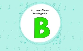 Bollywood Actresses Names Starting with B