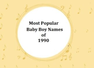 Most Popular Baby Boy Names of 1990