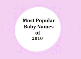 Popular Baby Names of 2010s