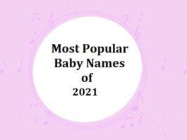 Popular Baby Names of 2021
