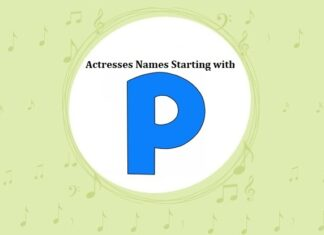 Bollywood Actresses Names Starting with P