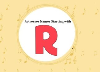 Bollywood Actresses Names Starting with R