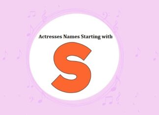 Bollywood Actresses Names Starting with S
