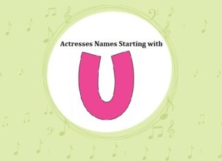 Bollywood Actresses Names Starting with U
