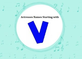 Bollywood Actresses Names Starting with V