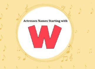 Bollywood Actresses Names Starting with W