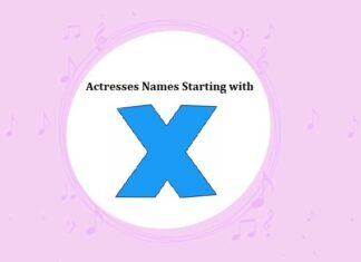 Bollywood Actresses Names Starting with X