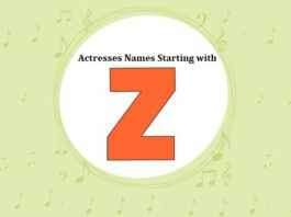 Bollywood Actresses Names Starting with Z
