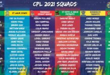 CPL Cricket Players List & Match Schedule 2021
