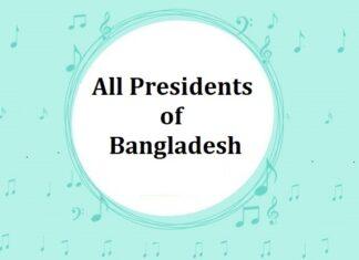 List of All Presidents of Bangladesh