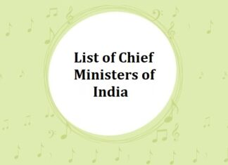 List of Chief Ministers of India (CM)