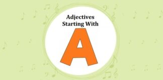 Adjectives Starting with A