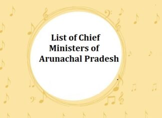 List of Chief Ministers (CM) of Arunachal Pradesh (AP)
