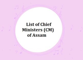 List of Chief Ministers (CM) of Assam