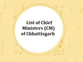 List of Chief Ministers (CM) of Chhattisgarh