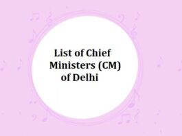 List of Chief Ministers (CM) of Delhi