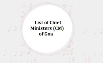 List of Chief Ministers (CM) of Goa