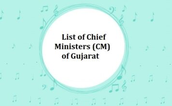 List of Chief Ministers (CM) of Gujarat
