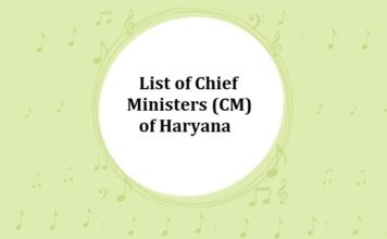 List of Chief Ministers (CM) of Haryana