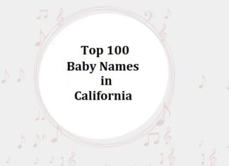 Top 100 Baby Names in California with Meanings