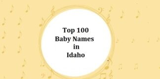 Top 100 Baby Names in Idaho with Meanings