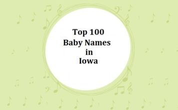 Top 100 Baby Names in Iowa with Meanings